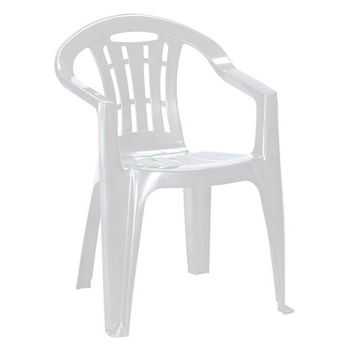 Curver Mallorca kartámaszos műanyag kerti szék - világos szürke
