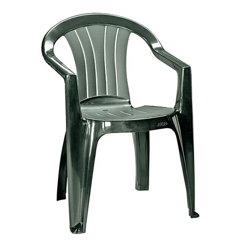Curver Sicilia kartámaszos műanyag kerti szék - sötét zöld