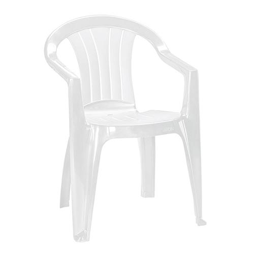 Curver Sicilia kartámaszos műanyag kerti szék - fehér