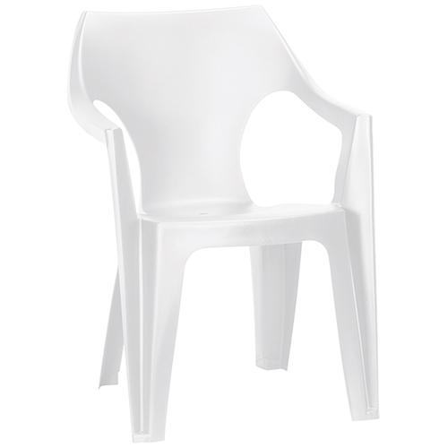 Allibert Dante kartámaszos alacsony támlás műanyag kerti szék - fehér