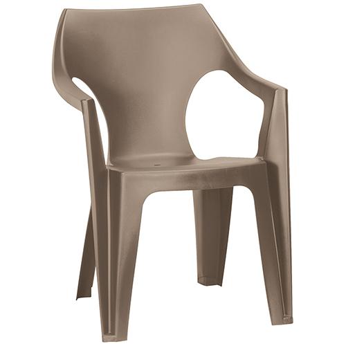 Allibert Dante kartámaszos alacsony támlás műanyag kerti szék - cappuccino