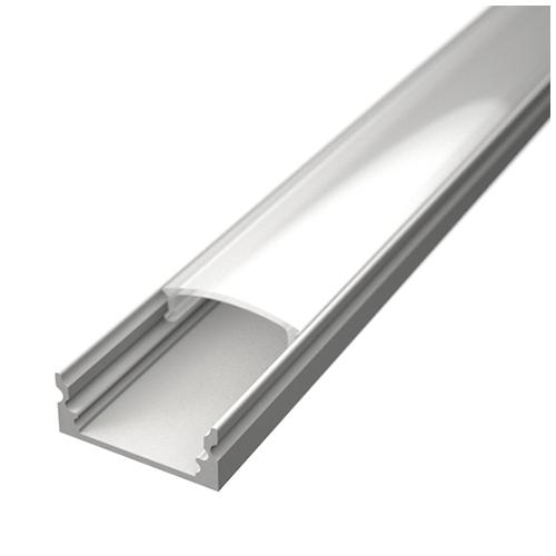 ALP-002 - Aluminium U profil fehér, LED szalaghoz, opál burával