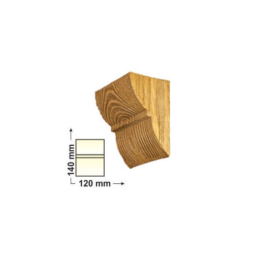 Elite Decor DecoWood Bükk-120 Univerzális konzol-01 (ED016)