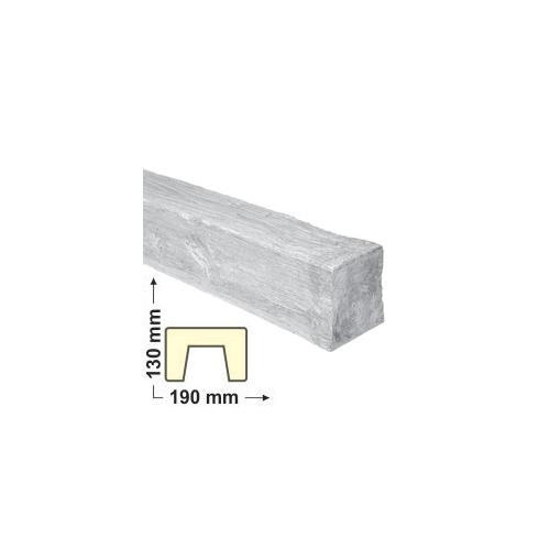 Elite Decor DecoWood Fehér-190 Modern poliuretán gerenda (ED105)