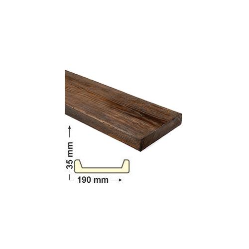 Elite Decor DecoWood Mahagóni-190 Modern poliuretán deszka panel (ET405)