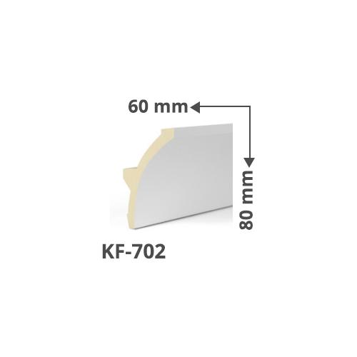 Elite Decor Poliuretán rejtett világítás díszléc (KF-702) ütésálló
