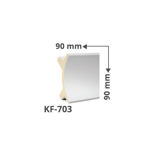 Elite Decor Poliuretán rejtett világítás díszléc (KF-703) ütésálló