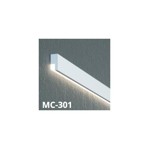 Elite Decor Prestige Decor homlokzati díszléc LED rejtett világításhoz (MC-301) védőbevonattal