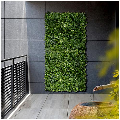 Nortene Vertical Tropic műanyag zöldfal trópusi növényekkel (100x100 cm)