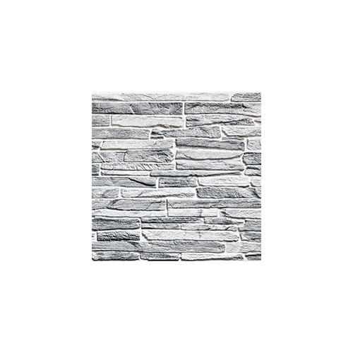 Flexpanel PVC falburkoló lap - Keskeny, hasított kő mintás burkolólap műanyagból (szürke)