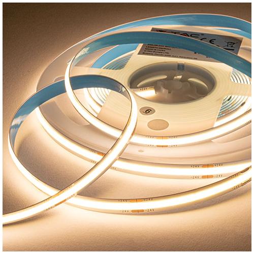 V-TAC 2649 COB LED szalag beltéri 512 LED/m (24 Volt) - meleg fehér