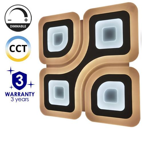 Avide Dakar Mennyezeti LED lámpa (98W - 7300 lm) RF távirányítóval
