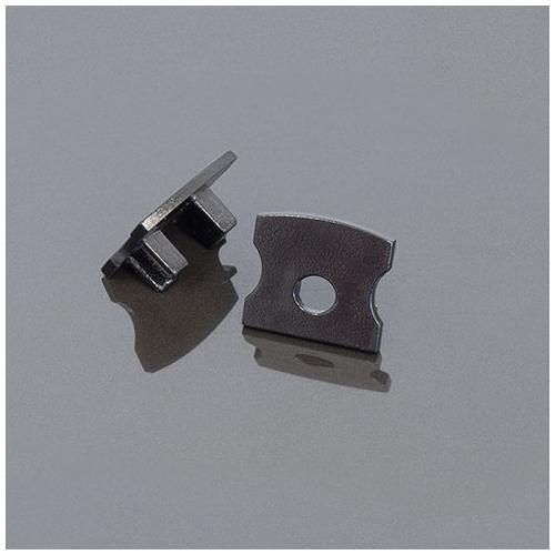 LED Profiles Surface-2 Alumínium LED profil véglezáró elem, fekete