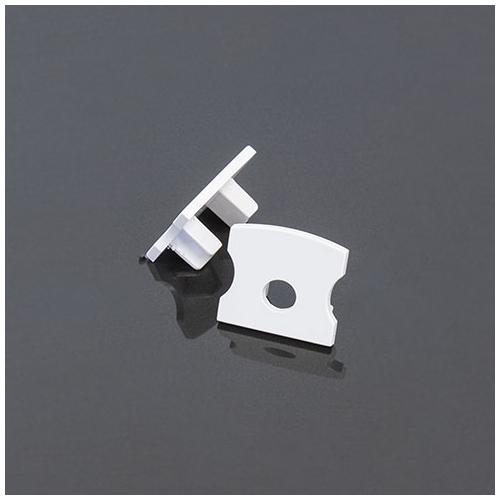 LED Profiles Surface-2 Alumínium LED profil véglezáró elem, fehér