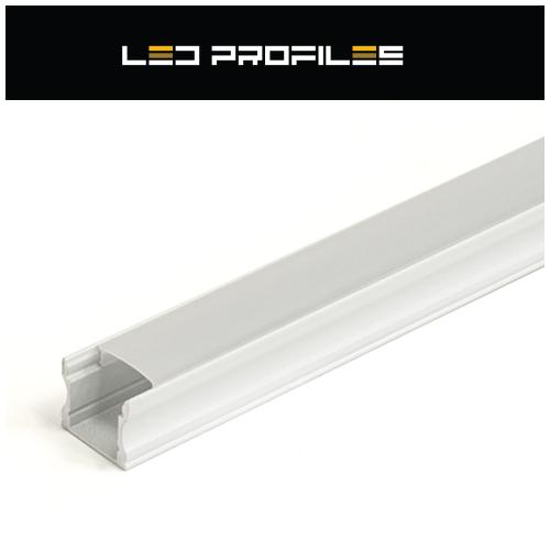 Surface-2 Alumínium U profil fehér, LED szalaghoz, opál burával