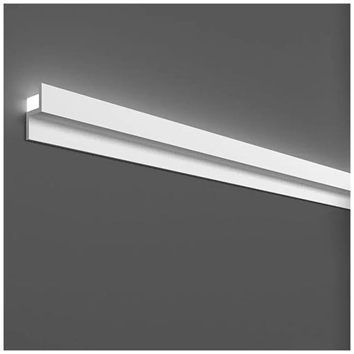 Elite Decor Oldalfali díszléc LED rejtett világításhoz (KH-902) kőkemény HDPS anyagból