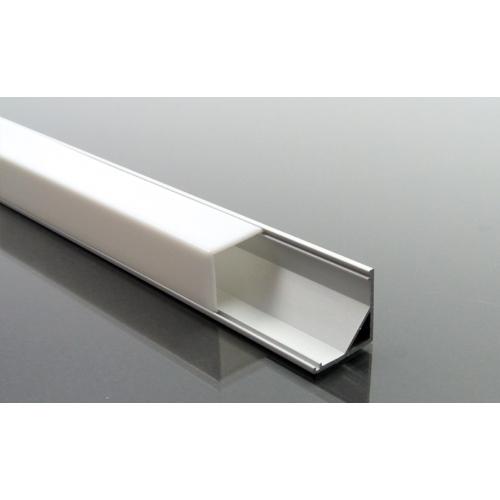 ALP-005 Aluminium sarok profil ezüst, LED szalaghoz, opál burával