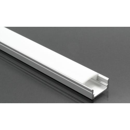 LED Profiles ALP-002 - Aluminium U profil ezüst, LED szalaghoz, opál burával
