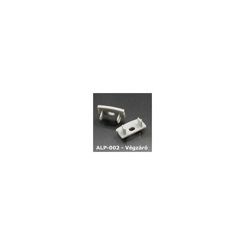 LED Profiles ALP-002, ALP-002RL Véglezáró alumínium LED profilhoz, szürke