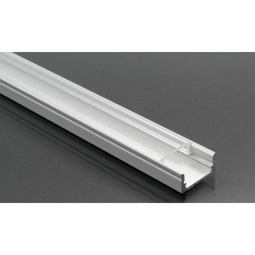 LED Profiles ALP-002 - Aluminium U profil ezüst, LED szalaghoz, átlátszó burával