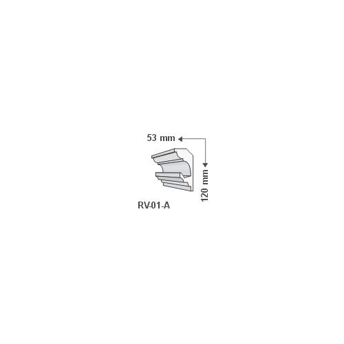 RV-01-A Rejtett világítás díszléc - mennyezet (736)