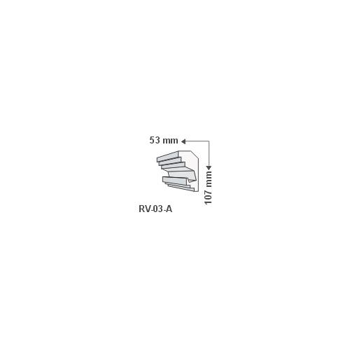 RV-03-A Rejtett világítás díszléc - mennyezet (741)