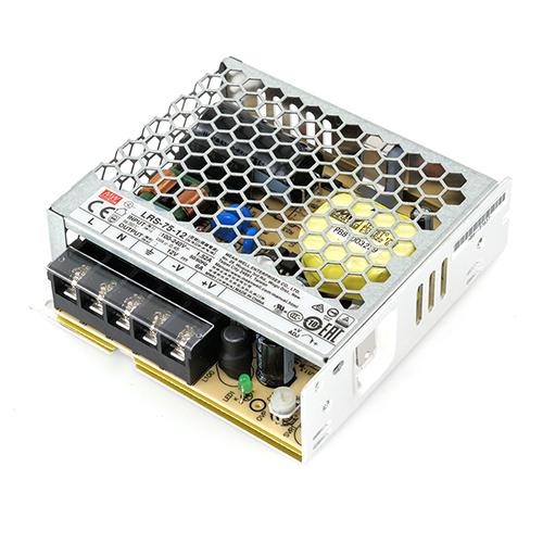 MeanWell LED tápegység 12 Volt - fém házas, ipari (75W/6A)