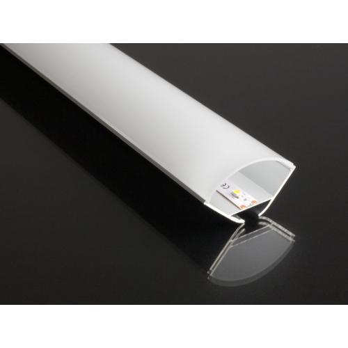 ALP-016R Aluminium sarokprofil ezüst, LED szalaghoz, opál burával