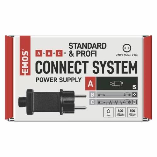 EMOS Tápegység Standard/Profi karácsonyi sorolható füzérekhez, IP44