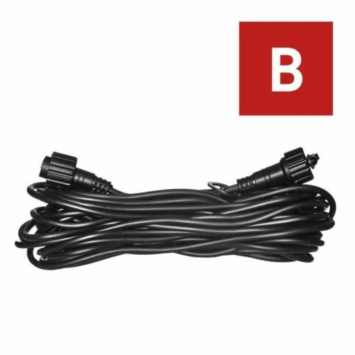 EMOS Hosszabbító kábel sorolható Profi fényfüzérekhez, fekete, 10 m, IP44