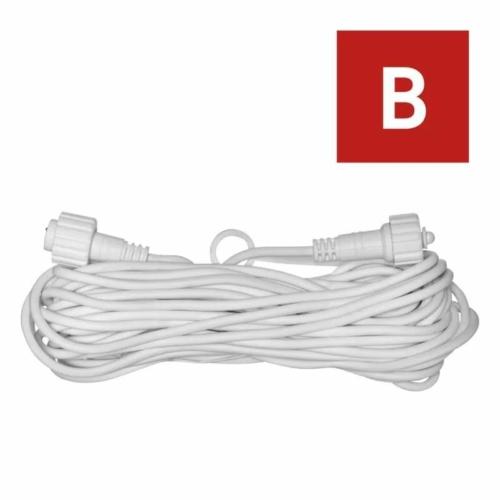EMOS Hosszabbító kábel sorolható Profi fényfüzérekhez, fehér, 10 m, IP44