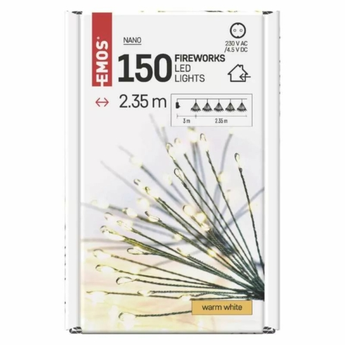 EMOS LED fényfüzér fürtök, nano, 2.35 m, beltéri, meleg fehér, időzítő