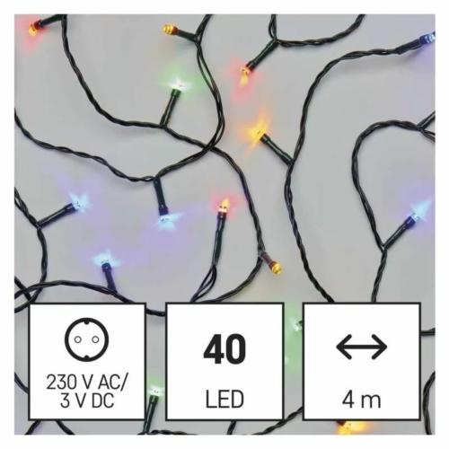 EMOS LED karácsonyi fényfüzér, 4 m, többszínű, időzítő, IP44