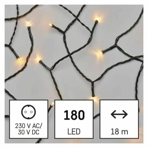 EMOS LED karácsonyi fényfüzér, 18 m, vintage, időzítő, IP44