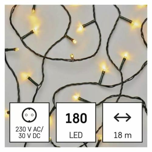 EMOS LED karácsonyi fényfüzér, 18 m, meleg fehér, időzítő, IP44