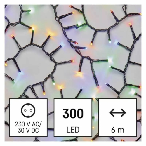 EMOS LED karácsonyi fényfüzér süni, 6 m, többszínű, időzítő, IP44