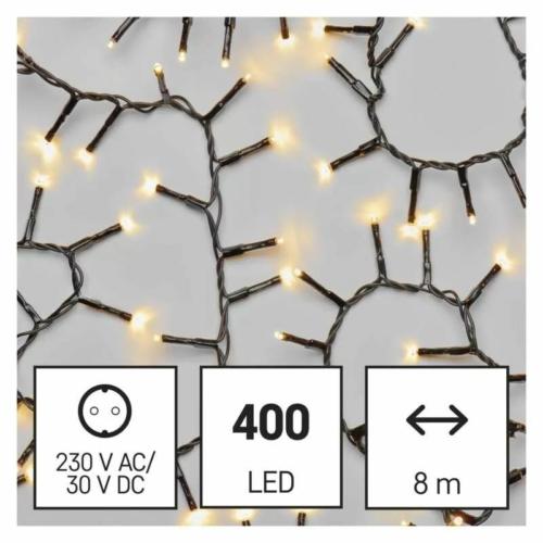EMOS LED karácsonyi fényfüzér süni, 8 m, meleg fehér, időzítő, IP44
