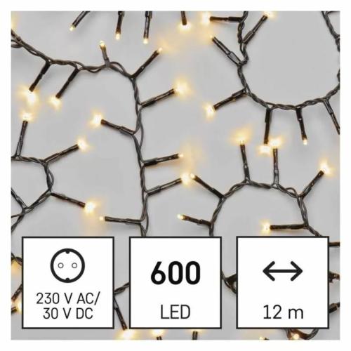 EMOS LED karácsonyi fényfüzér süni, 12 m, meleg fehér, időzítő, IP44