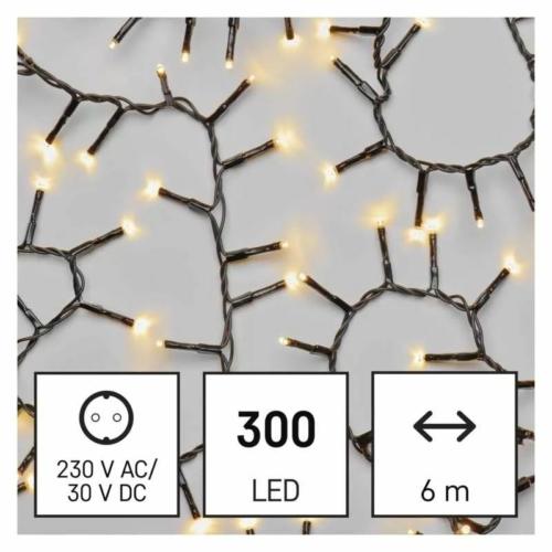 EMOS LED karácsonyi fényfüzér süni, 6 m, meleg fehér, időzítő, IP44