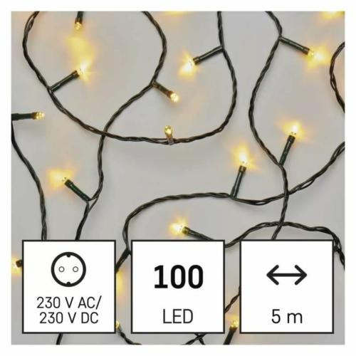 EMOS LED karácsonyi fényfüzér, 5 m, beltéri, meleg fehér
