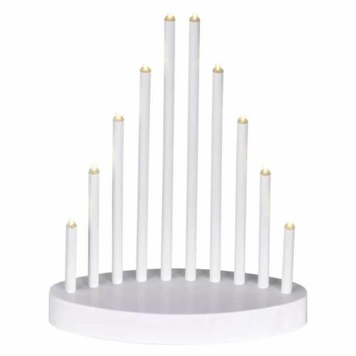 EMOS LED gyertyatartó, fehér, 24,5 cm, 3x AA, beltéri, meleg fehér, időzítő