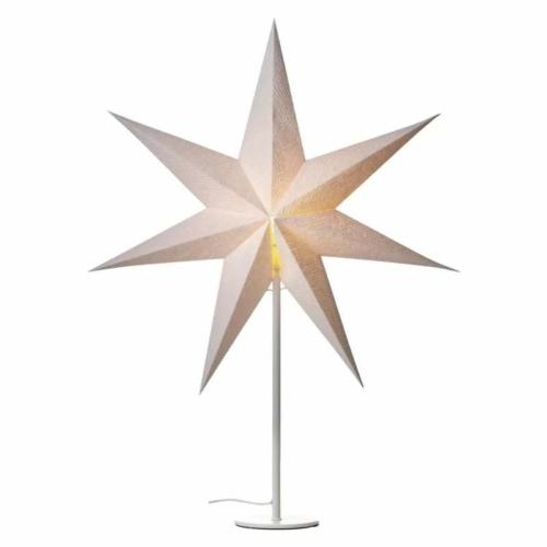 EMOS Gyertyatartó E14, papírcsillaggal, fehér, 67x45 cm, beltéri