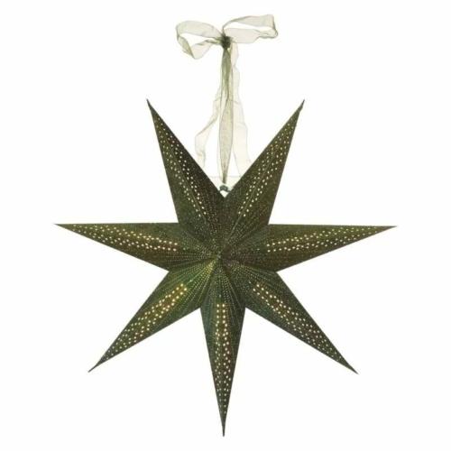 EMOS LED papírcsillag E14, függeszthető, zöld, 60 cm, beltéri