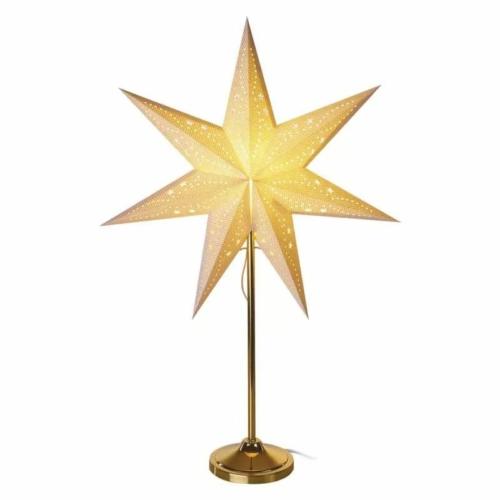 EMOS LED papírcsillag E14, aranyszínű talppal, 45 cm, beltéri