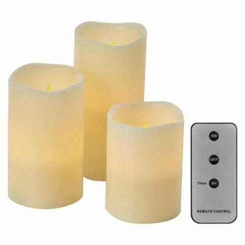 EMOS LED dekoráció 3x viaszgyertya, 3x3 AAA, beltéri, vintage, távirányító