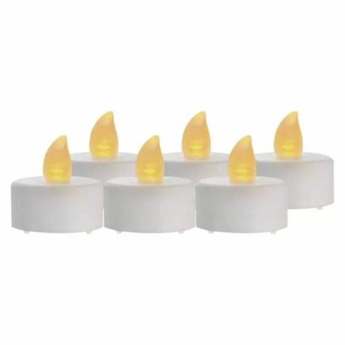 EMOS LED dekoráció 6x teamécses, fehér, 6x CR2032, beltéri, vintage