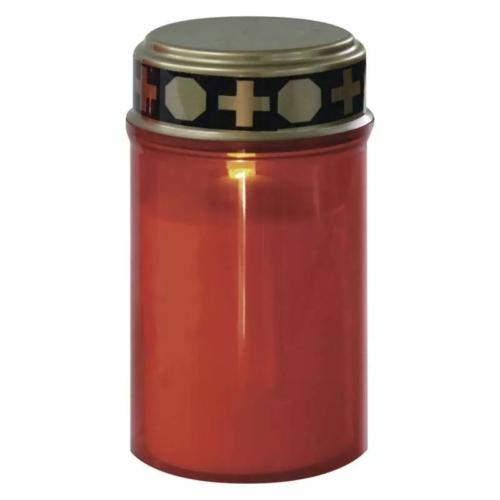 EMOS LED temetői mécses, piros, meleg fehér, időzítő, IP44