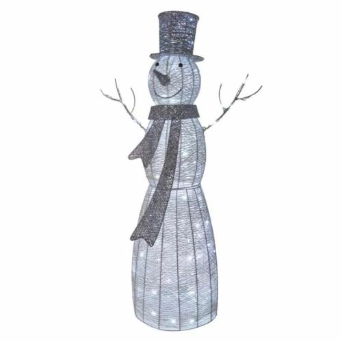 EMOS LED karácsonyi hóember, rattan, 124 cm, beltéri, hideg fehér, időzítő