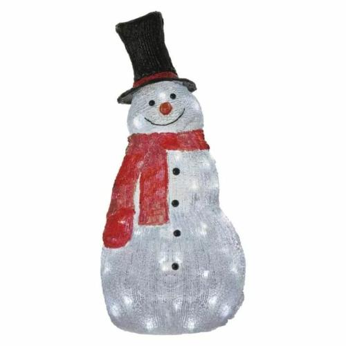 EMOS LED karácsonyi hóember, 61 cm, kültéri és beltéri, hideg fehér, időzítő, IP44