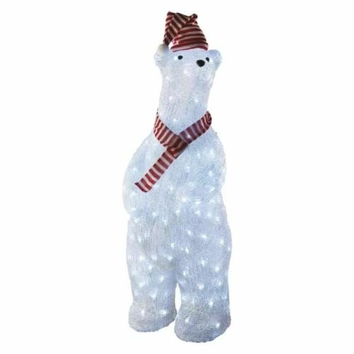 EMOS LED karácsonyi medve, 80 cm, kültéri és beltéri, hideg fehér, időzítő, IP44